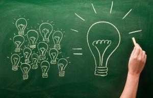 many small light bulbs equal big one